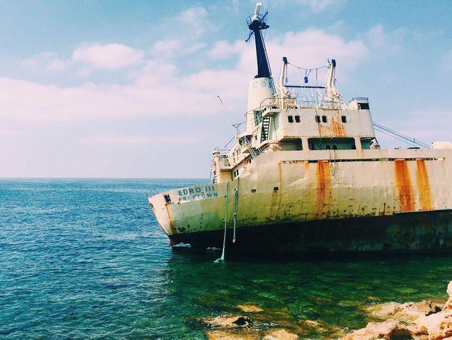 Shipwreck Ship Boat Shipwreck Wreck Coast Coastline Sea Sea And Sky