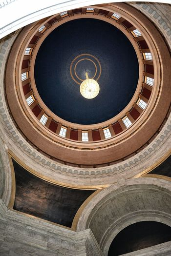 Architectural Feature Architecture Built Structure Capitol Building Circle Day Directly Below History Low Angle View No People Rotunda State Capital West Virginia