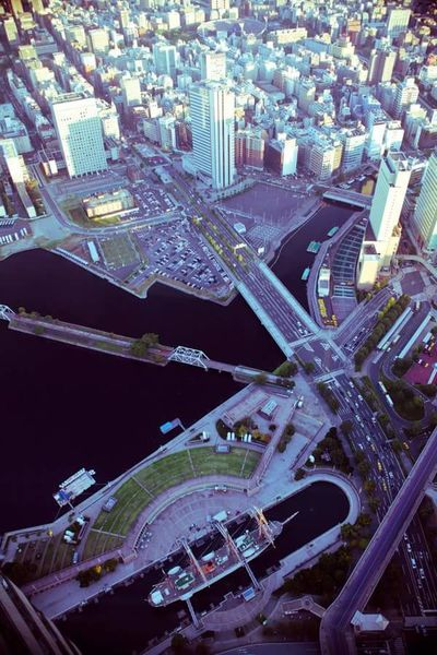 Yokohama Architecture City Cityscape Tall - High Birds View Sea Ocean Ship