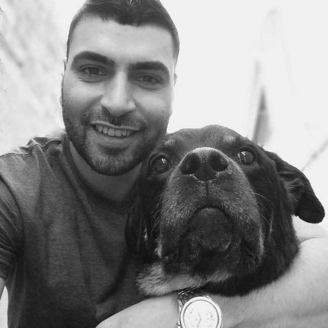 ThatsMe Thatsmydog Rottie Rottweiler Mansbestfriend Mans Best Friend I Love My Dog Dog❤ K-9 Black & White Blackandwhite Black And White Selfie ✌ Selfiewithdog Hello World