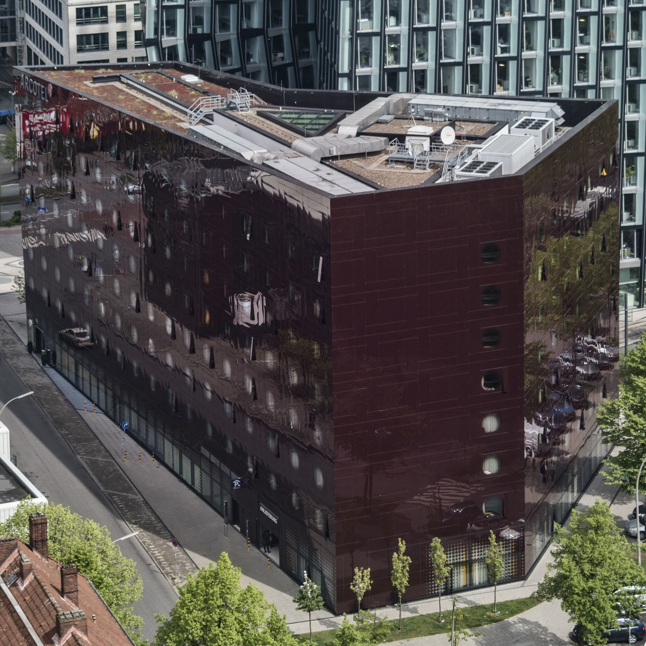 Arcotel Onyx Architecture Arcotel Bird's-eye View Building Exterior Built Structure City Day Daylight Hotel Modern Architecture No People Onyx Outdoors Reeperbahn  Street Trees