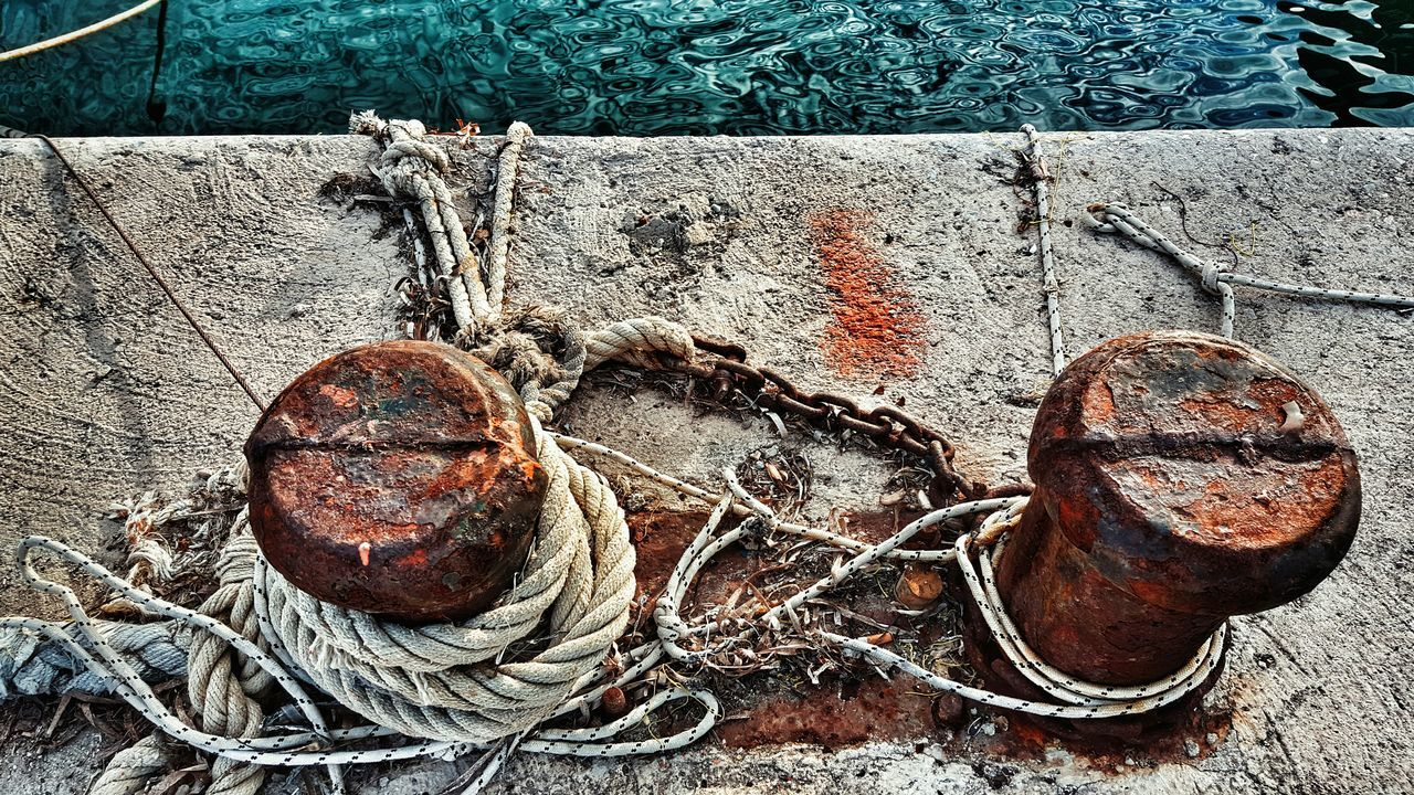 StillLifePhotography View From Above At The Port Cape  Cape Point Capepoint Ropes Seaside Still Life GrungeStyle Editoftheday Edited Grunge Grunge It Up Rotten Saltiness Textures And Surfaces