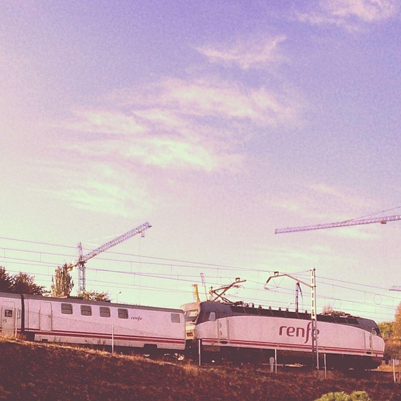 Morning train! Renfe 252 pantone, Talgo. Igersrenfe Igerstrains Igerstalgo Negugoring