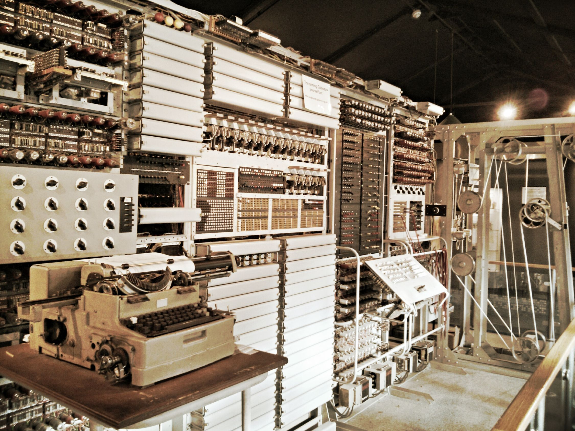 Colossus, first electronic computer in the world.