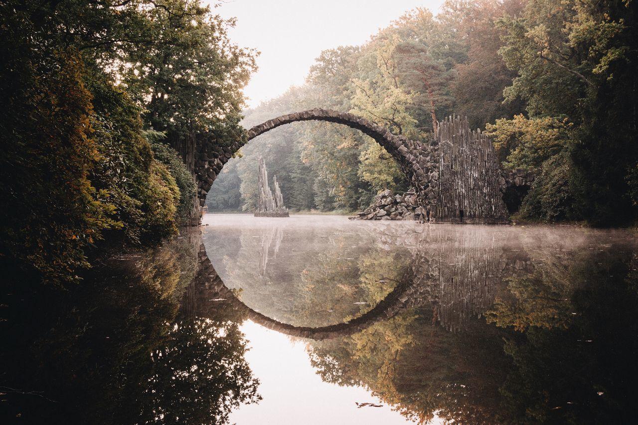 Rakotzbridge Saxony Landscape EyeEm Best Shots Vscocam This Week On Eyeem Autumn Capture The Moment Nature Sunrise