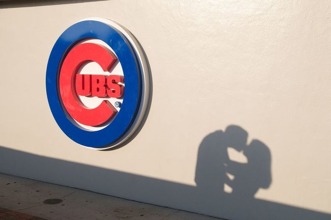 ©Amy Boyle Photography 1060 W Addison Baseball Blue Chicago Chicago Cubs Cubs  Cubs Baseball Kiss Love Mlb Outdoors Professional Baseball Red Romance Shadow Sign Silhouette Silouette This Year Wrigley Wrigley Field
