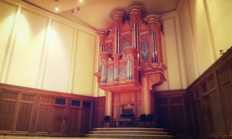 A beautiful organ, built piece by piece. Organ Built Beauty Music Chapel