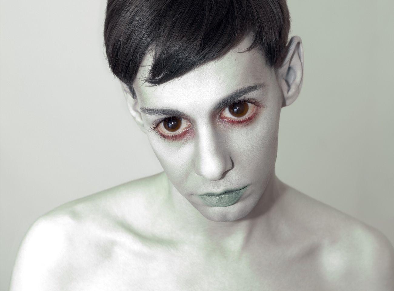 Portrait Of A Friend www.ricardosilvestre.com Spooky Alien Aliens Dead Zombie Creepy Monster