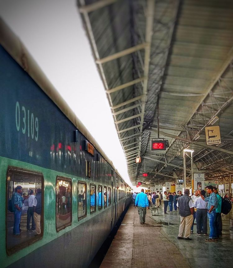 People Travelgram Transportation Incredibleindia Indiantourism Indianrailwaysdiaries Windowseatproject Indianrailways Outdoors People Together Railway Station Platform