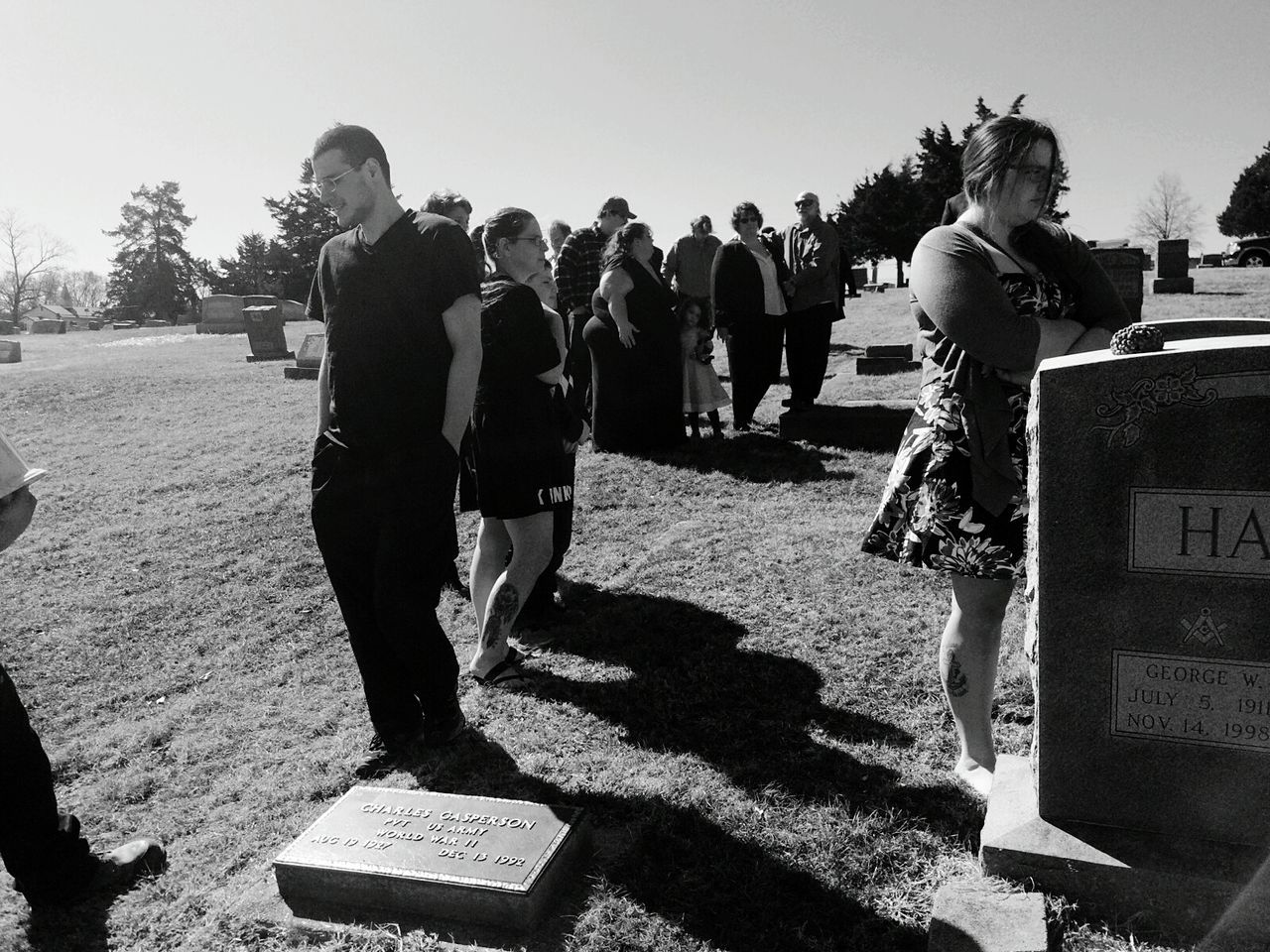 Funeral Ceremony Family Death And Life Graveyard Shots Gravestones Death Life And Death Life's Journey  Life Black & White Black And White Black And White Photography Black&white Grave Yard Graveside Gravesite