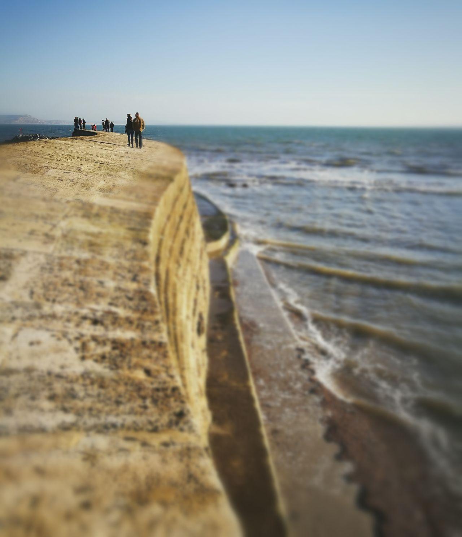Heritage Coastline Landscape Photography Dorset,England Lyme Regis Winter Sunshine Outdoors Horizon Over Water Sea