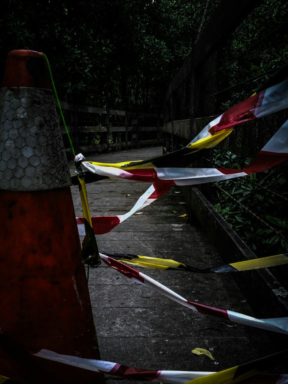 I walked where no man dared and I got the biggest prize of them all. Photography Traffic Cone Danger Caution Tape Showcase: February
