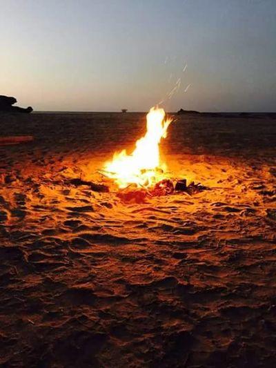 #fogata&Friends #relaxingtime #trip Burning Flame Horizon Over Water No People Sea