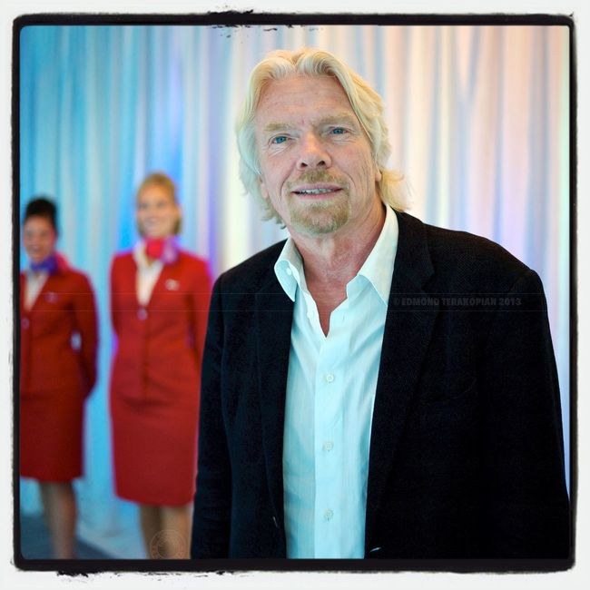 Sir Richard Branson @richardbranson , Vancouver, Canada. #portrait @virginatlantic Portrait Virgin  Virgin Atlantic Richard Branson