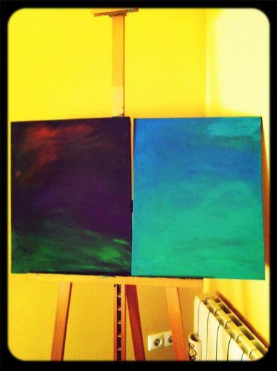 Primer capitulo de una tarde de ensueño pintando en lienzo...con B.S.O De Amelie