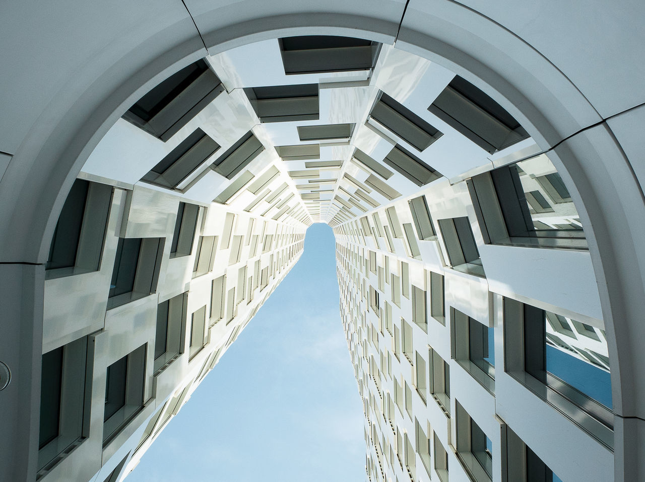 Architecture Building Exterior Built Structure City Day From My Point Of View Low Angle View Modern No People Outdoors Sky Skyscraper Thearchitect Eyeemawards2017 Window The Architect - 2017 EyeEm Awards