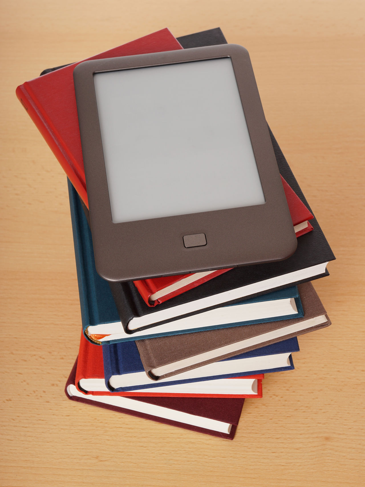 Book Books E-book E-book Reader Ebook Ebookreader Education No People Old Versus New Pile Reading Stack Still Life Technology