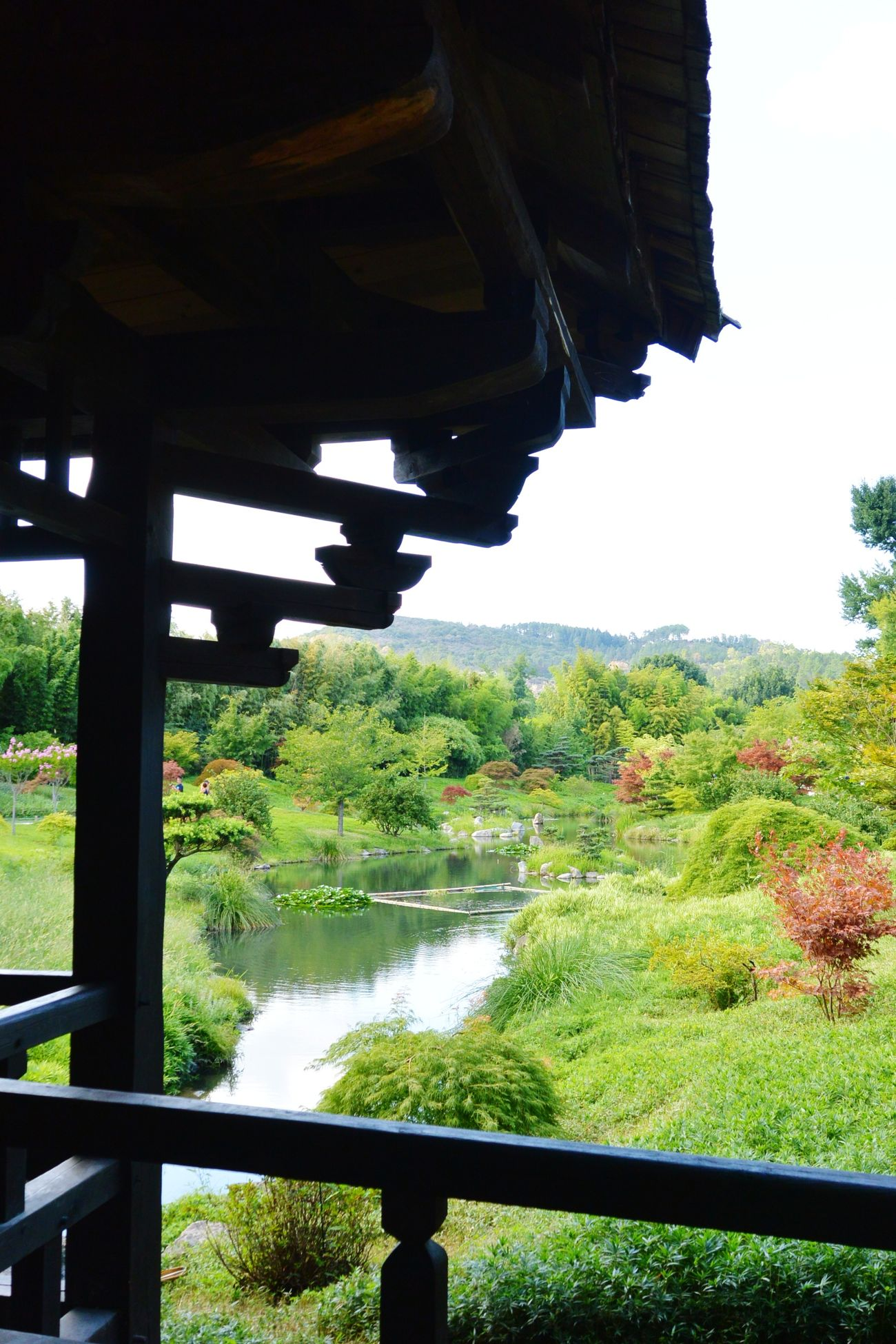 Balcon sur le jardin zen Asian Garden Zen Pagoda La Bambouseraie Anduze Holiday Memories South France