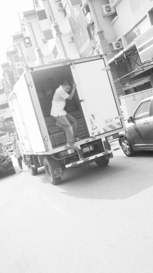 Egg Delivery Service Asian  Streetphotography Monochrome City Street Life Afterwork