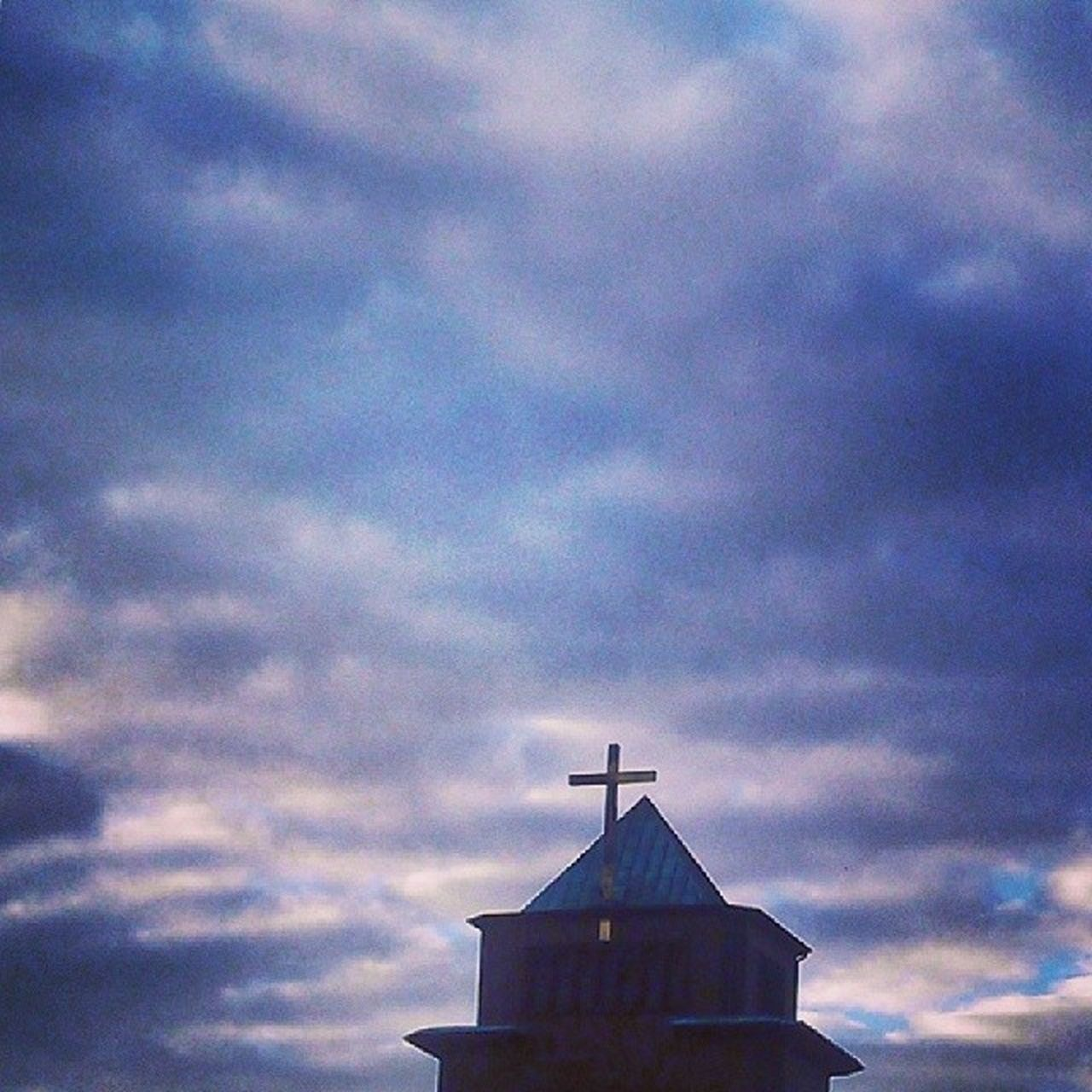 cloud - sky, architecture, built structure, sky, building exterior, religion, no people, low angle view, spirituality, outdoors, place of worship, weather vane, sunset, day