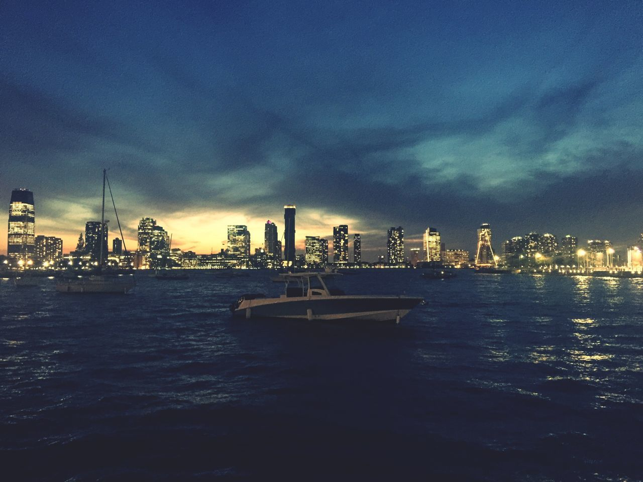 Adapted To The City Cityscape Water Sky Cloud - Sky Outdoors Waterfront Urban Skyline Nature Nautical Vessel Sunset Lowlight Newjearsey Blue Sky Blue Wave Solitude Wild EyeEmNewHere