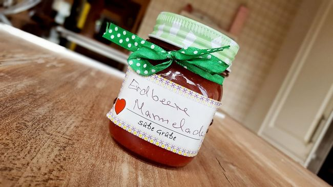 Breakfast Cute Focos Focus On Foreground Font Food Gift Glass Green Heart In My Kitchen Jam Letters Loop Lovely Present Selfmade Strawberry Strawberry Jam Sweet Sweets Wishes Yummy