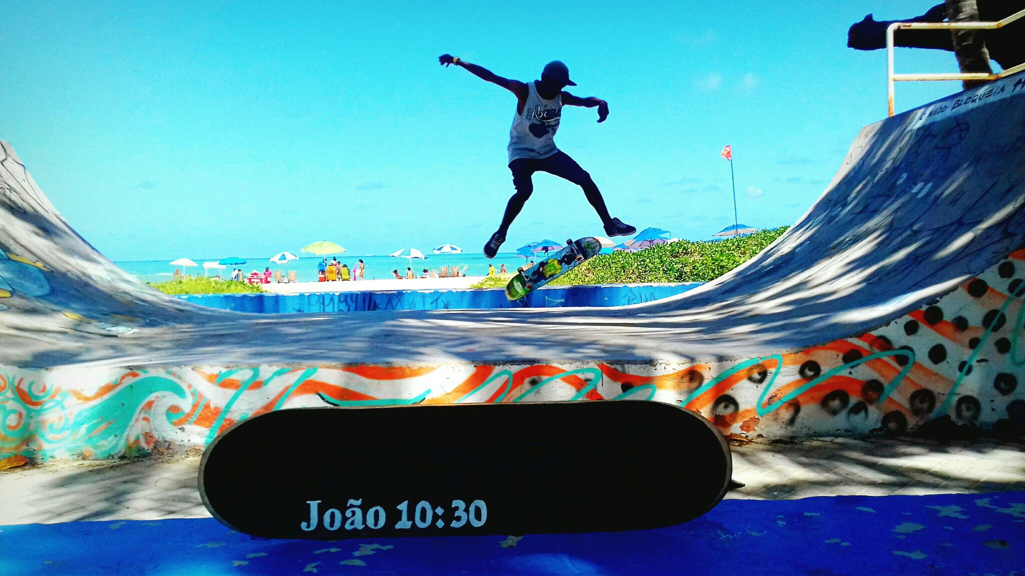 Skateboarding Skatelife Beach Sea Sky Vibe Brasil Recife Kickflip Thanksgod