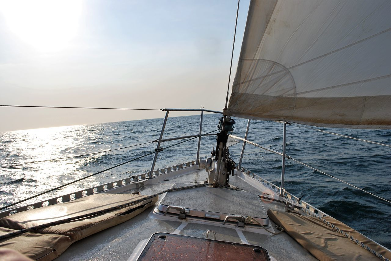 Pacific Ocean Costa Rica shore blue water sailboat Nautical Vessel Sailing Outdoors Boat Deck No People Sailing Ship Yachting Sky Sea