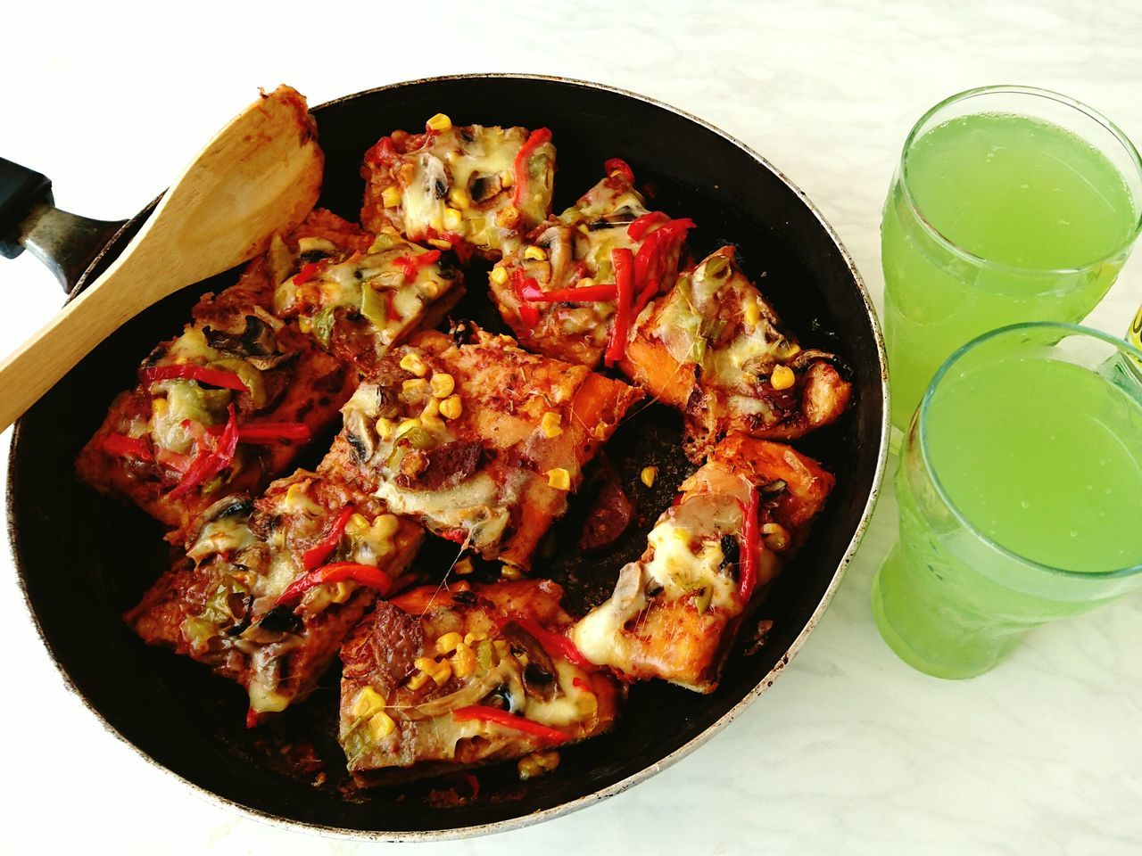 Food Food And Drink Ready-to-eat Healthy Eating Sausage Pizza Pizza Time Homemadepizza Schweppes Bitter Lemon Schweppes Greendrink Onthetable Meal Couple Delicious EyeEm Best Shots Eyeemfood Eyeemfoodlover Eyeemfoodporn