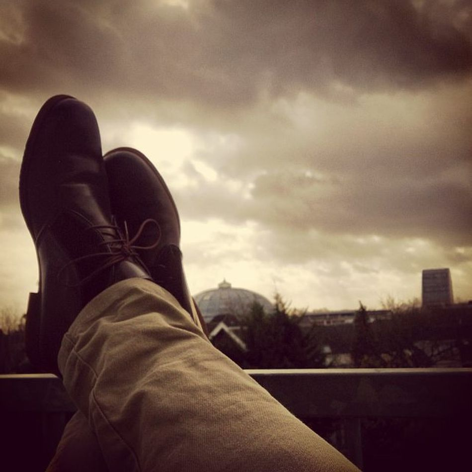 Goooood morning bredaaaaa!!! Breda Shoes Clouds Balcony Whereisthesun Goodmorning Readyforuni