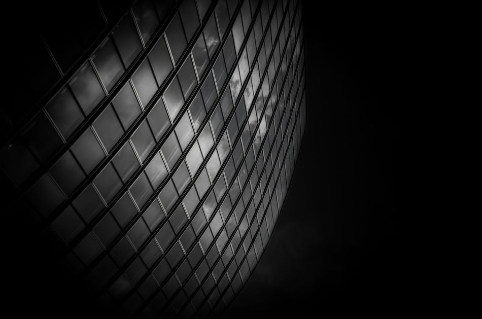 Low Angle View Light And Shadow Fine Art Photography Black And White Photography Black & White Contrast Bnw LondonBuilding Architectural Windows Welcome To Black Architecture Built Structure Looking Up