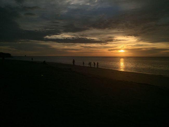 Sunset at Labuan. Sunset Sea Silhouette Horizon Over Water Scenics Sun Beauty In Nature Beach Ocean Vacations