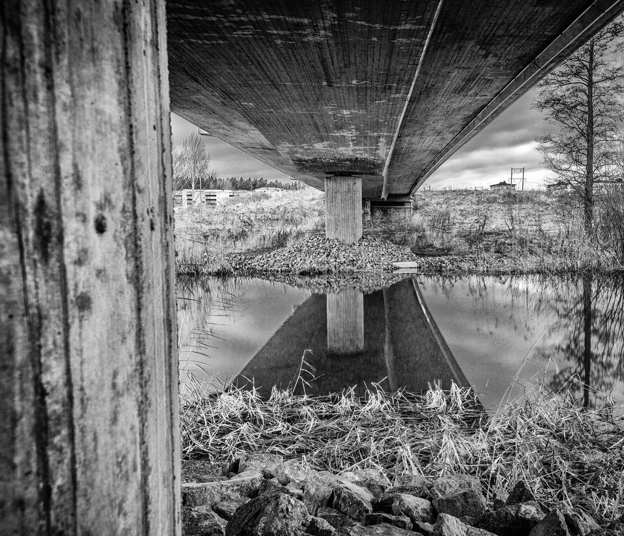 Bridge - Man Made Structure Below No People Architecture Underneath Under The Bridge Blackandwhite EyeEmNewHere