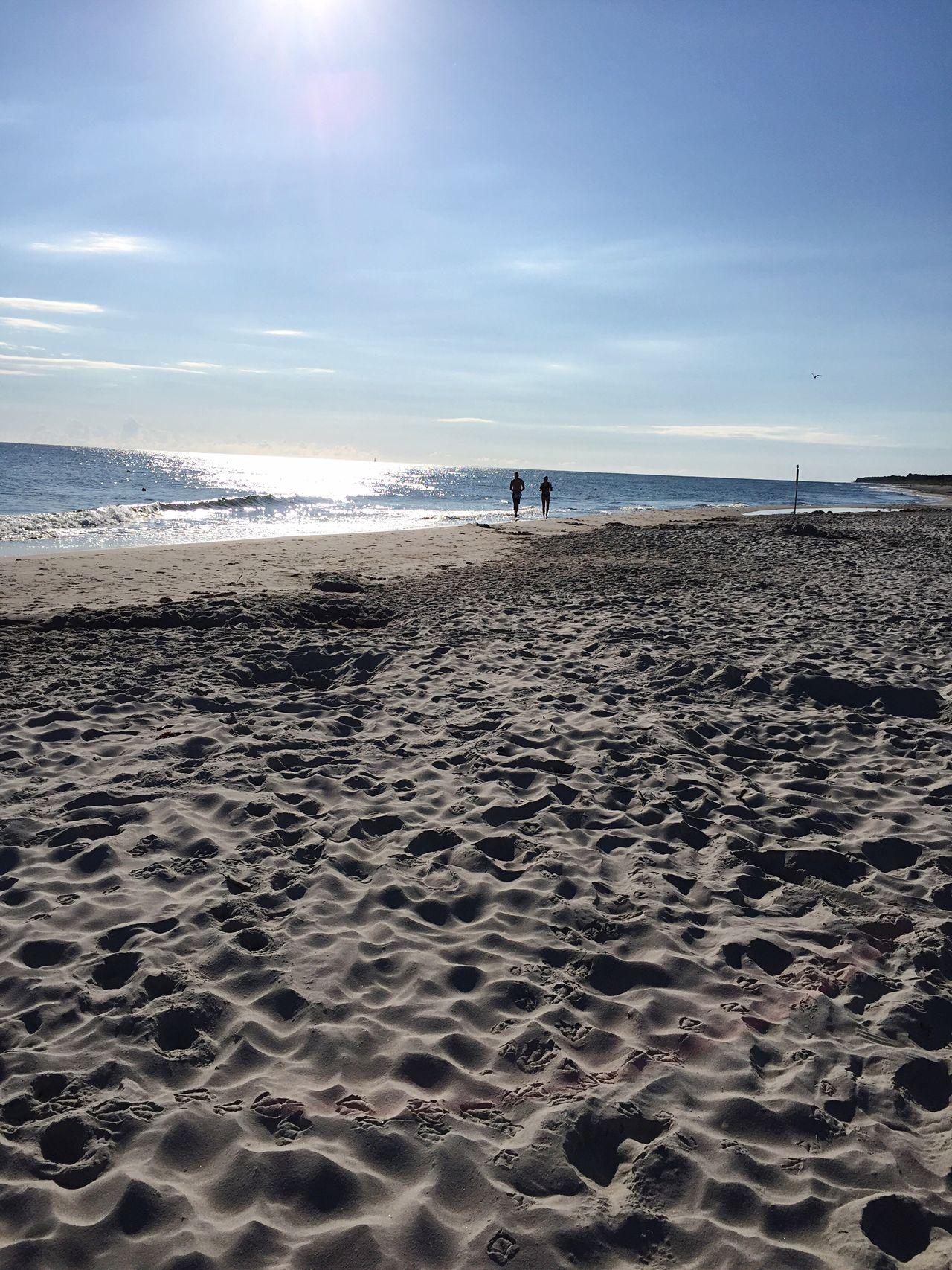 Poland Polandisbeautiful Summer August Swimming Kuźnica Beach Sand Sea Morning Sunrise