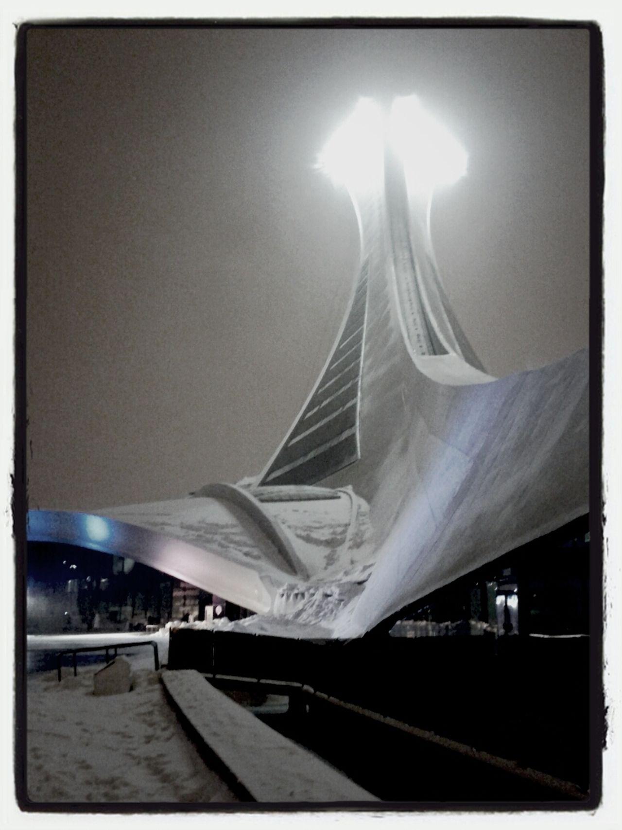 Architecture Montréal Snow America Tower Canada Neige Tour Stadium Olympic Stadium Sports Stadium Stade Neige Nocturne Qc North America