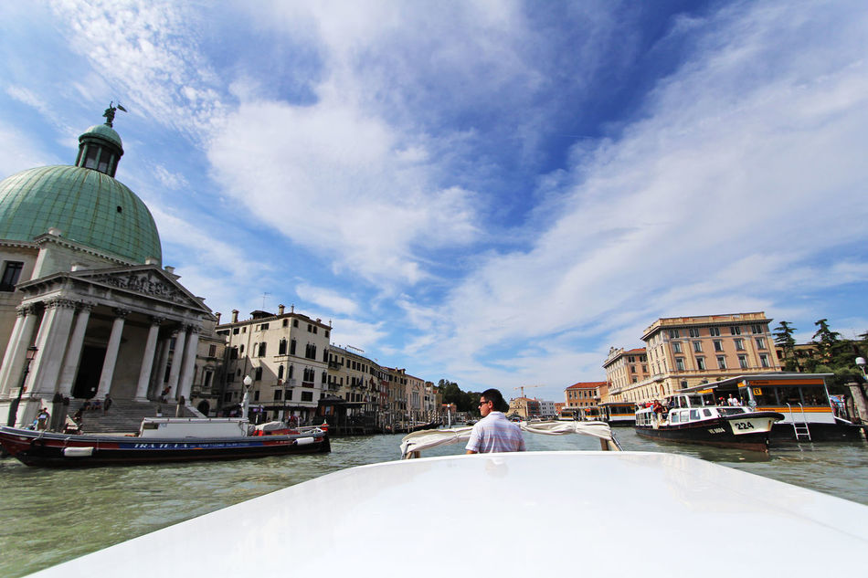 Venice stands for VEryNICE Blue Skies Canal Grand Canal Italy Picturesque Romantic City San Simeone Piccolo Tourist Destination Venice Water Waterway White Clouds