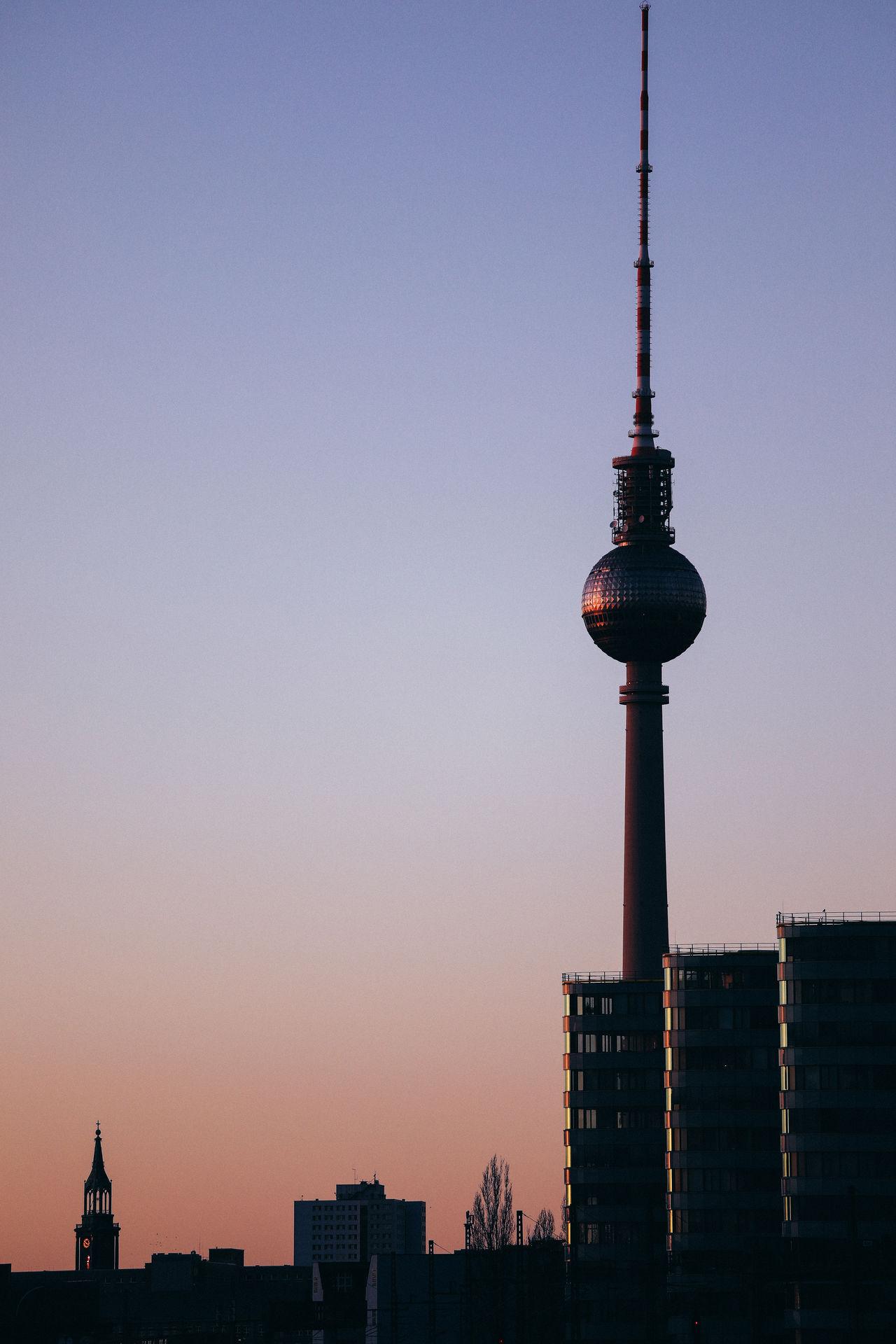 Berlin Buildings Buildings & Sky Cityscape Fernsehturm Fernsehturm Berlin  Sky Sunset TV Tower Capture Berlin