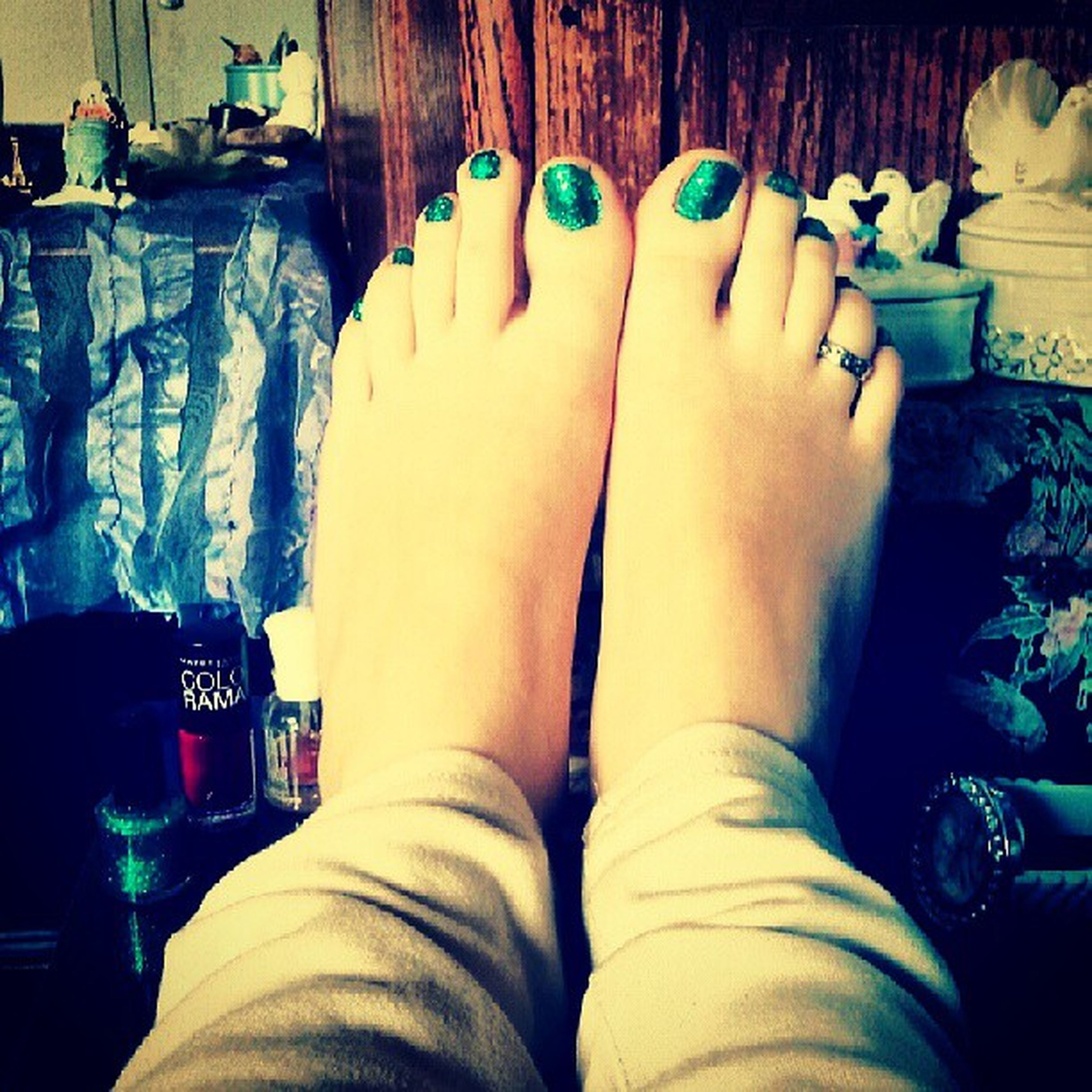 indoors, person, low section, lifestyles, personal perspective, human foot, relaxation, home interior, leisure activity, sitting, bed, men, legs crossed at ankle, part of, barefoot, bedroom