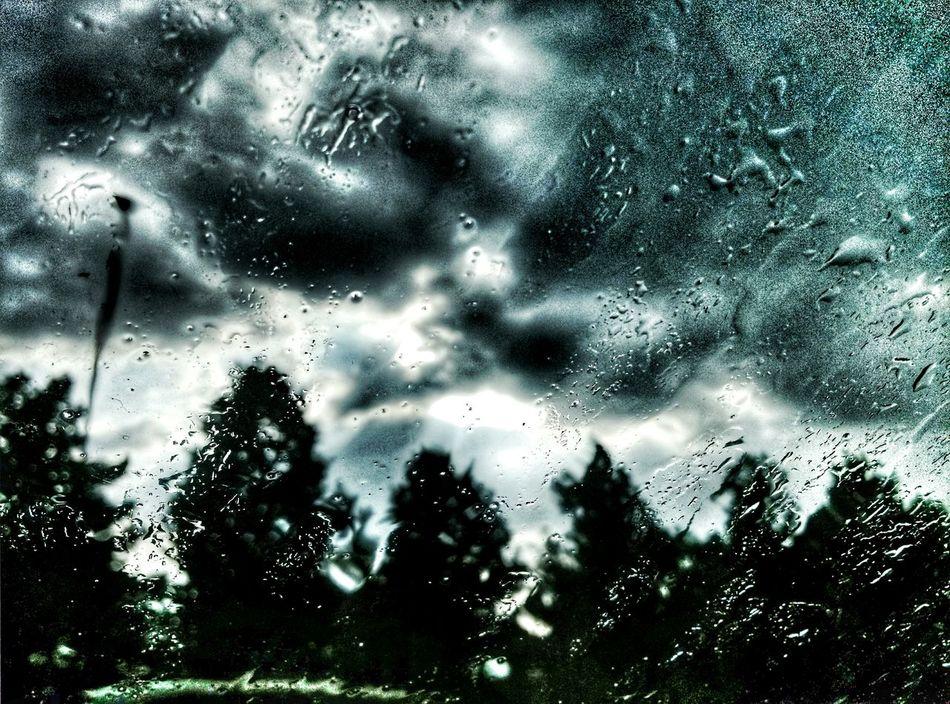 Rainy Day Suburban Sky