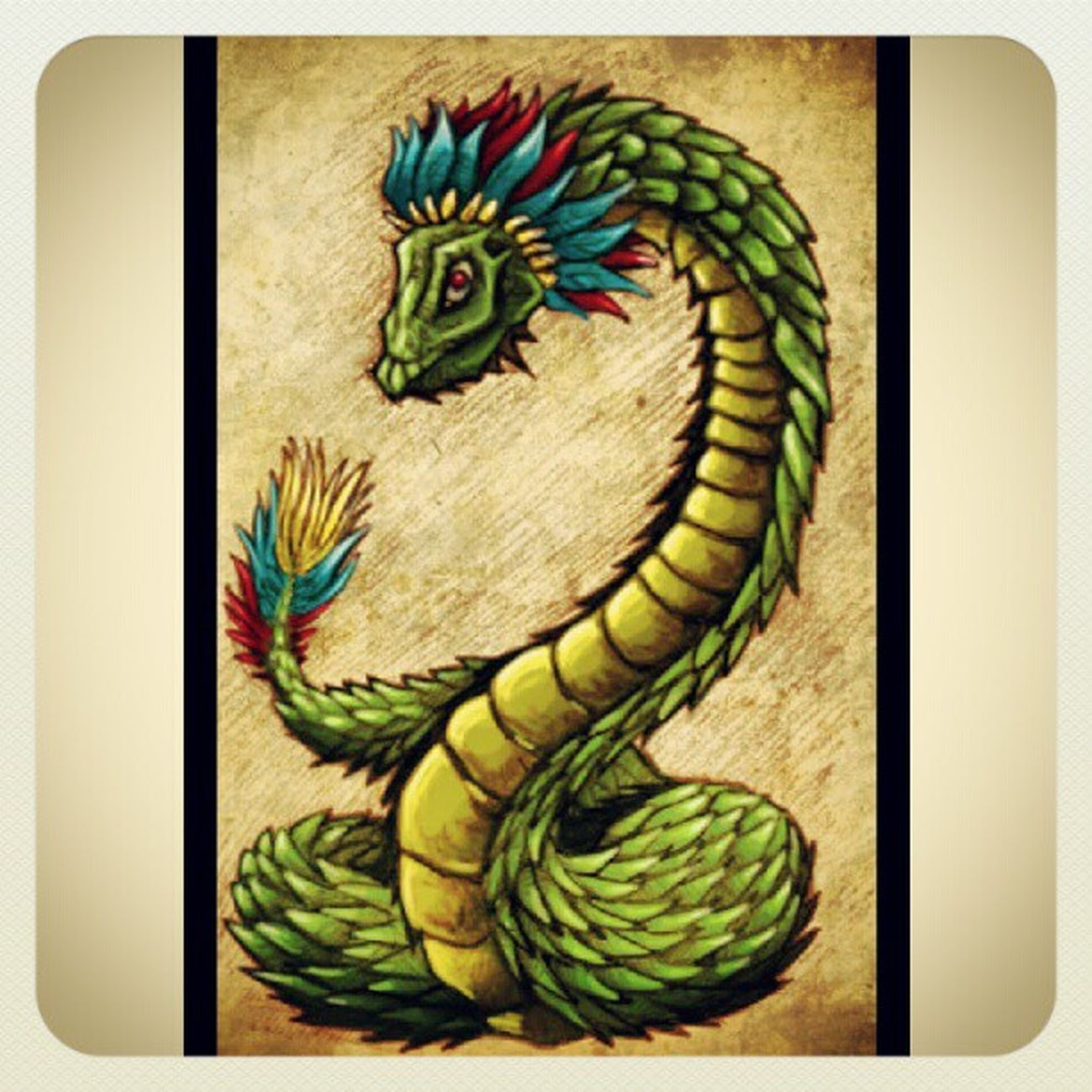 Here's my new tattoo idea half Quetzal half Snake DOPE @prezidentialswag what you think?
