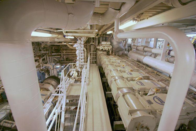 Heavy Metal Indoors  Machine Room Machinery No People Power Station Ship Turbines Under Deck