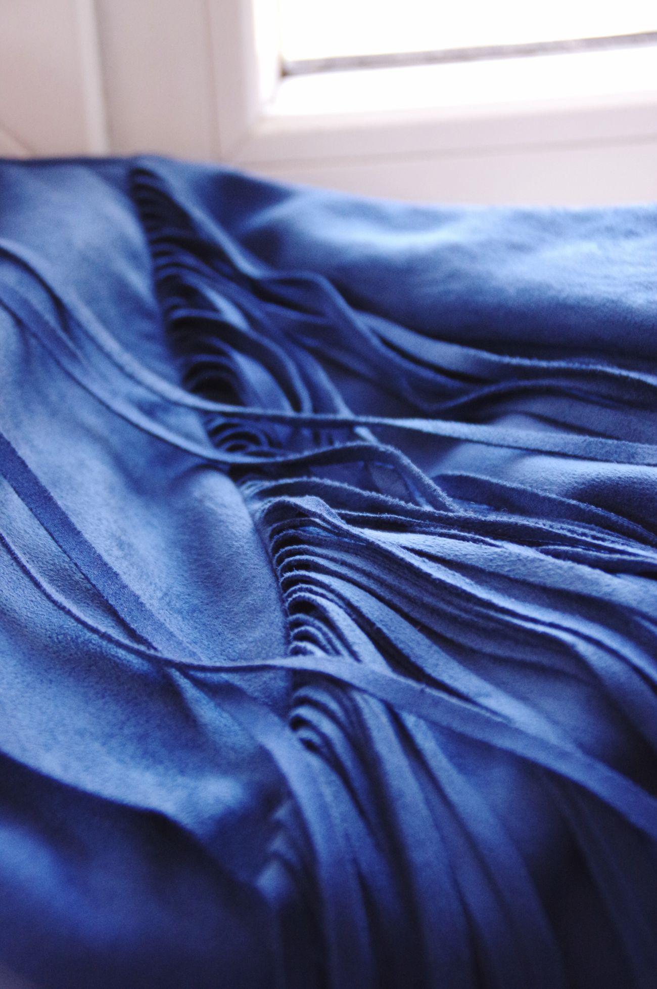 Blue Suède Jacket Material