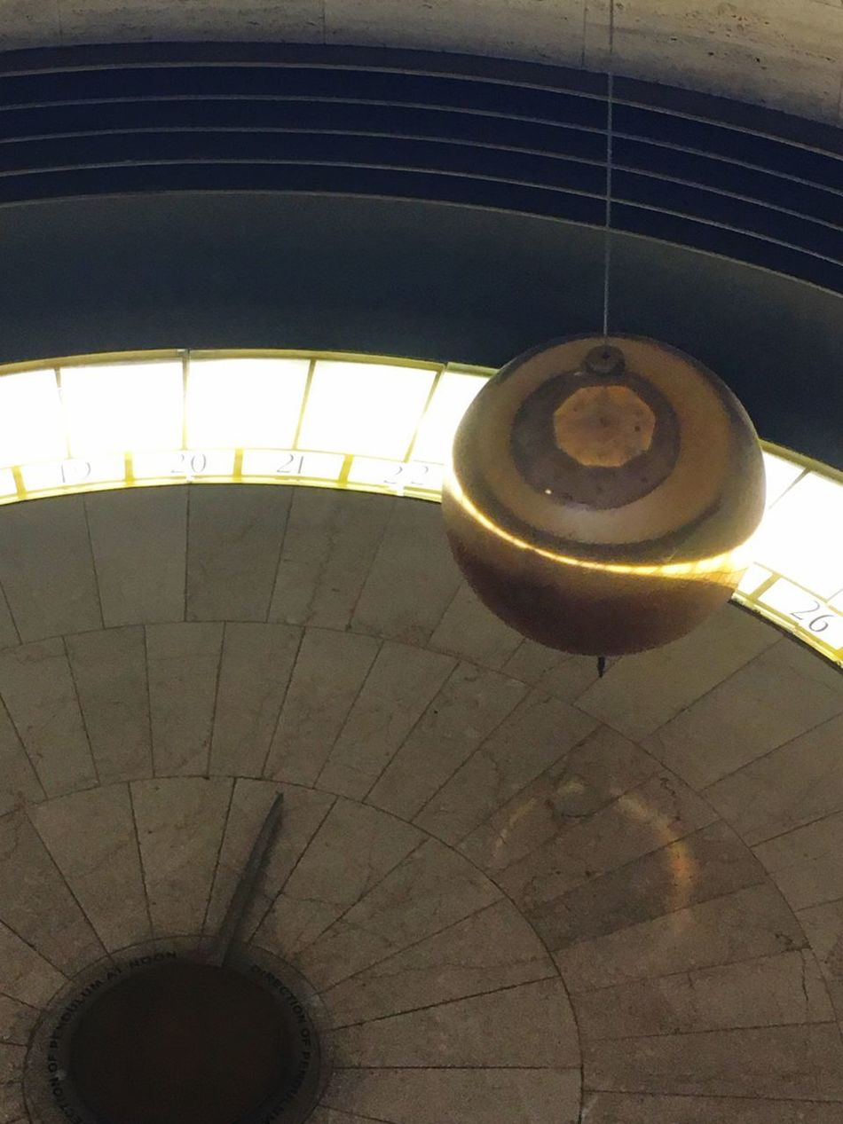 Low Angle View Indoors  Illuminated No People Close-up Day Iconic Landmark La La Land Griffiths Observatory Clock Pendulum