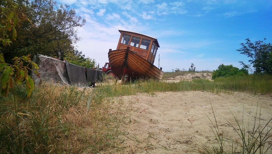 Hinterland Stranded Boat Beach