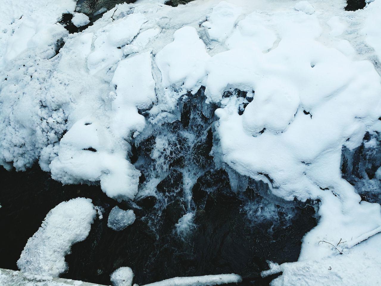 Frozen stream Winter Cold Temperature No People Weather Snow Nature Cold Weather Snow ❄ Cold Winter ❄⛄ Winter Beauty In Nature Water Frozen Waterfall Ice White