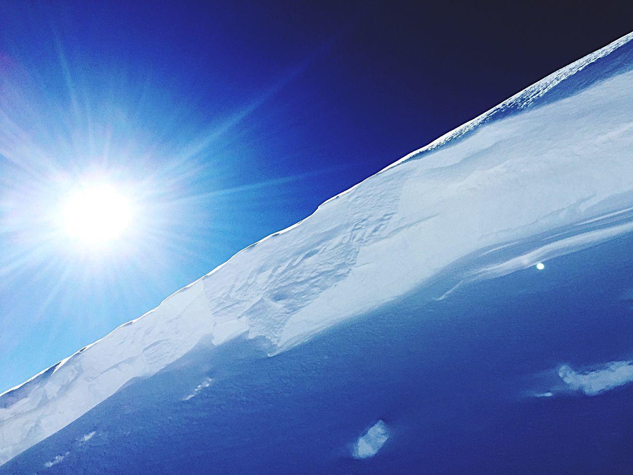 Snow edge, Tignes, 2015 Snow ❄ Edge Cold Blue Sky Wintertime Snowfun!