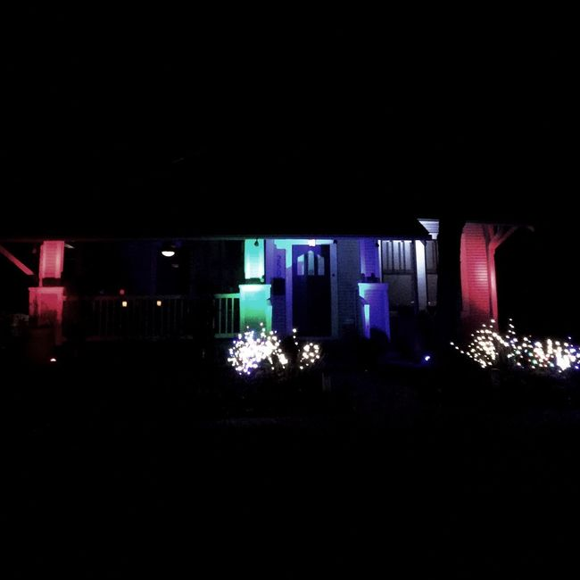 Felix Navidad! Christmas Decorations My City At Night