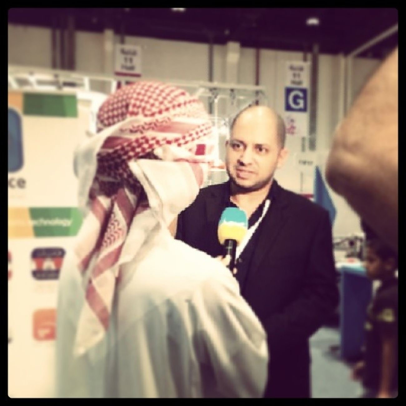 Interview with Sama_Dubai in ADIBF2014 taking about Interface_jlt mobile apps