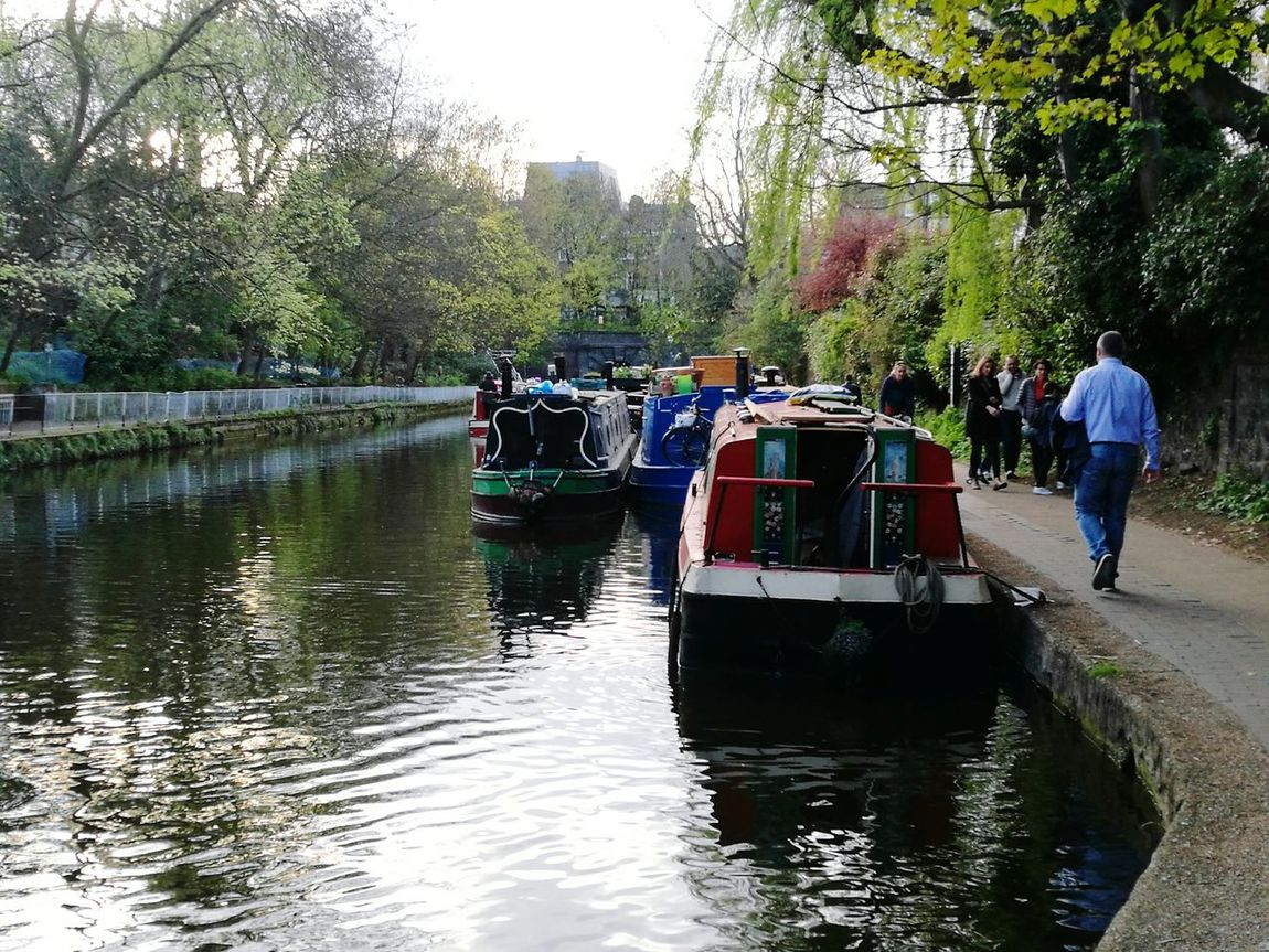 Canals Outdoors Nautical Vessel Canals And Waterways Barge Large Group Of People People Tree Day Reflection Water