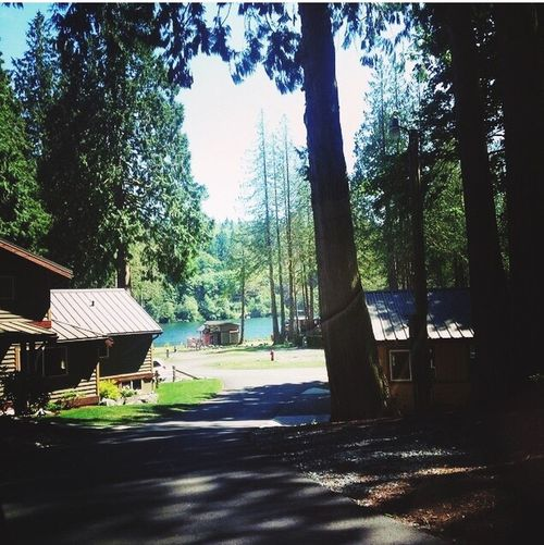 At the lake house